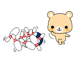Bear with Italian phrases sticker #7689792