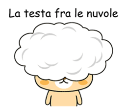 Bear with Italian phrases sticker #7689793