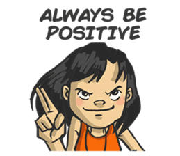 Always be positive sticker #7691314