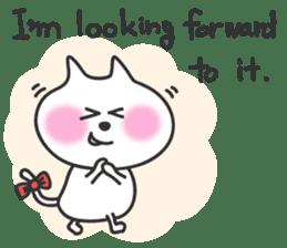 pretty cute cat momo english version sticker #7696364