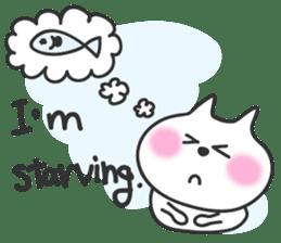 pretty cute cat momo english version sticker #7696365