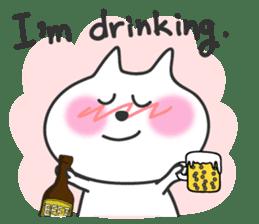 pretty cute cat momo english version sticker #7696368