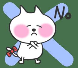 pretty cute cat momo english version sticker #7696370