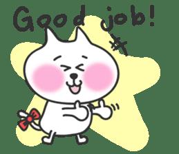 pretty cute cat momo english version sticker #7696371