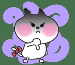 pretty cute cat momo english version sticker #7696372