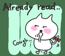 pretty cute cat momo english version sticker #7696376