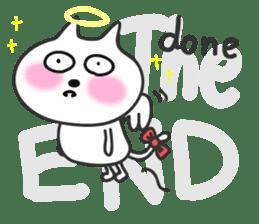 pretty cute cat momo english version sticker #7696379