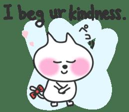 pretty cute cat momo english version sticker #7696382
