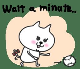 pretty cute cat momo english version sticker #7696386