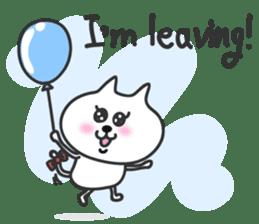 pretty cute cat momo english version sticker #7696389
