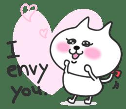 pretty cute cat momo english version sticker #7696390