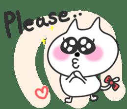 pretty cute cat momo english version sticker #7696396