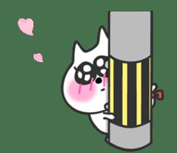 pretty cute cat momo english version sticker #7696398