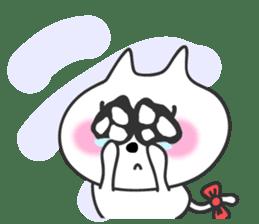 pretty cute cat momo english version sticker #7696399