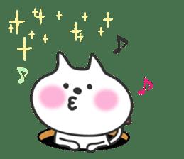 pretty cute cat momo english version sticker #7696400