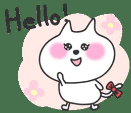 pretty cute cat momo english version sticker #7696401
