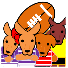 Rugby Sticker(Wallaby) 2