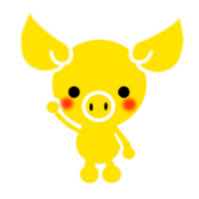 สติ๊กเกอร์ไลน์ Gold pig of the happiness