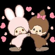 สติ๊กเกอร์ไลน์ Monchhichi-chan and Chimutan