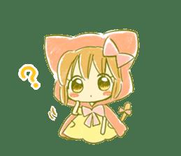 Little Red Hood of the cat ear sticker #7728149