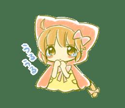 Little Red Hood of the cat ear sticker #7728154