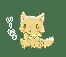 Little Red Hood of the cat ear sticker #7728157