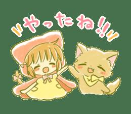 Little Red Hood of the cat ear sticker #7728165