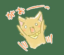 Little Red Hood of the cat ear sticker #7728169