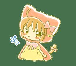 Little Red Hood of the cat ear sticker #7728180