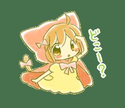 Little Red Hood of the cat ear sticker #7728183