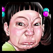สติ๊กเกอร์ไลน์ Angry face of children