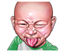 Angry face of children sticker #7730243