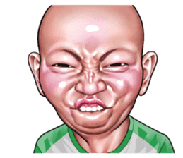 Angry face of children sticker #7730244