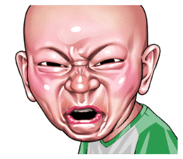Angry face of children sticker #7730245