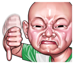 Angry face of children sticker #7730247