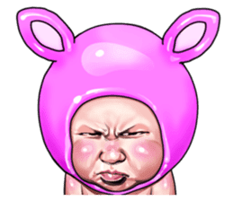 Angry face of children sticker #7730260