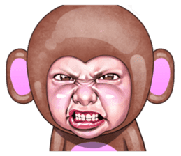 Angry face of children sticker #7730262