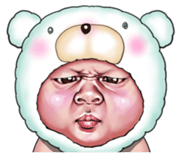 Angry face of children sticker #7730263