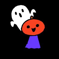 Mr.halloween pumpkin & Mr.ghost