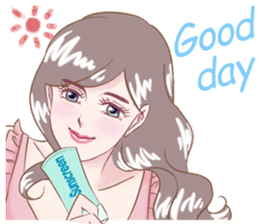 A happy girl on a lovely summer day(Eng) sticker #7741910