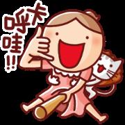 สติ๊กเกอร์ไลน์ Nonie Animated Sound Stickers 6 (Taiwan)