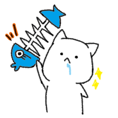 Hungry cat and Eaten fish