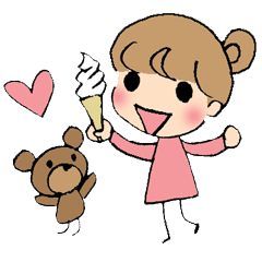 a little cynical girl and a bear