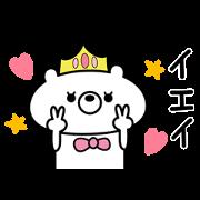 สติ๊กเกอร์ไลน์ Princess Bear sticker
