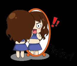 The exercise of plump girl (EN) sticker #7772268