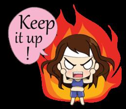 The exercise of plump girl (EN) sticker #7772272