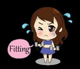 The exercise of plump girl (EN) sticker #7772276