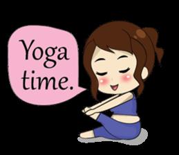 The exercise of plump girl (EN) sticker #7772284