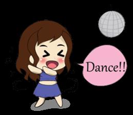 The exercise of plump girl (EN) sticker #7772288