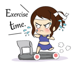 The exercise of plump girl (EN) sticker #7772289